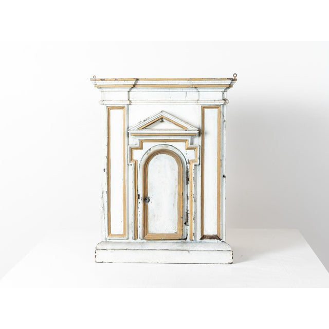 French Antique French White Painted Wood Tabernacle For Sale - Image 3 of 7