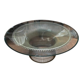 Knoll Warren Platner Coffee Table Wire Mid-Century For Sale