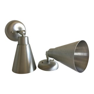 1960s Modern Cone Wall Lights - a Pair For Sale