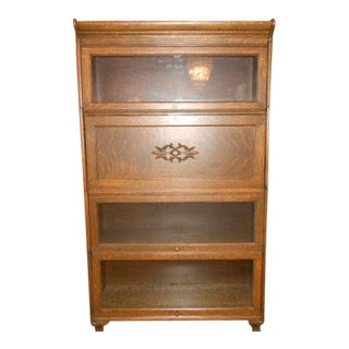 1900s Traditional Gunn Barrister Secretary Bookcase For Sale