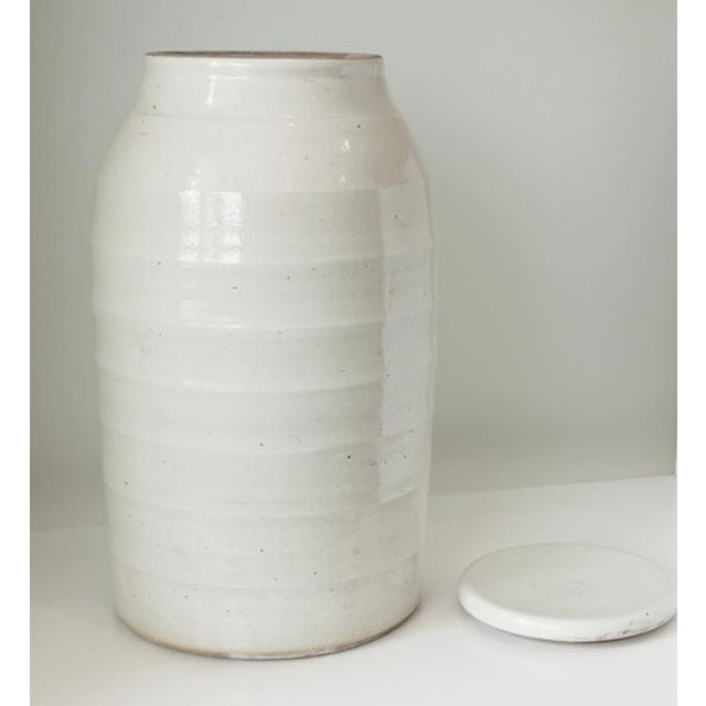 A chic touch to your kitchen countertop with this porcelain storage jar. Or a beautiful addition to any table. Beautifully...