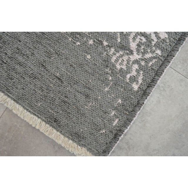 Gray Overdyed Turkish Rug - 3′11″ X 5′11″ - Image 8 of 9