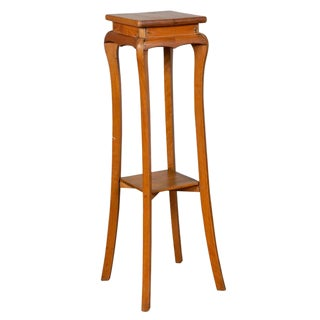 Vintage Chinese Tall Wooden Pedestal For Sale
