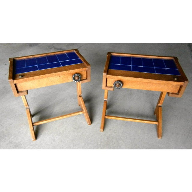 Guillerme & Chambron Vintage Side Tables - A Pair - Image 4 of 6