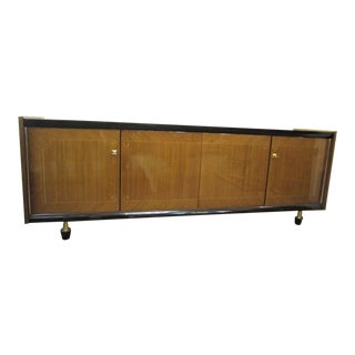 1960s Mid-Century Modern French Long Low Credenza For Sale