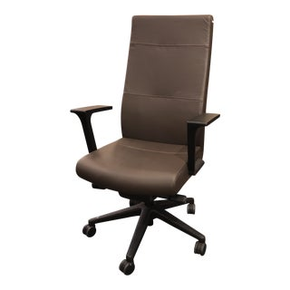New SitOnIt Executive Prava Brown Leather Office Chair For Sale