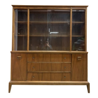 1960s Mid-Century Modern China Cabinet For Sale