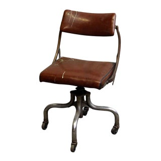 Vintage Upholstered Office Chair by Domore For Sale