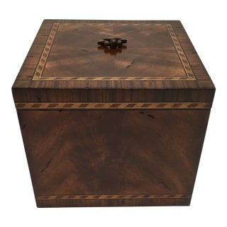 Transitional Inlaid Lidded Box For Sale