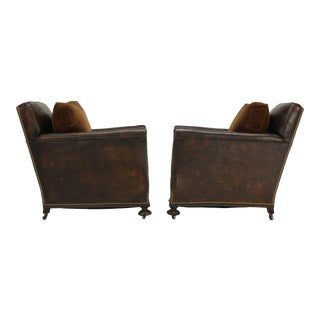 French Restored Club Chairs - A pair For Sale