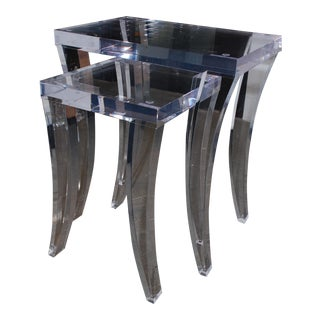 HStudio by Shlomi Haziza Curve Nesting Tables - a Pair For Sale