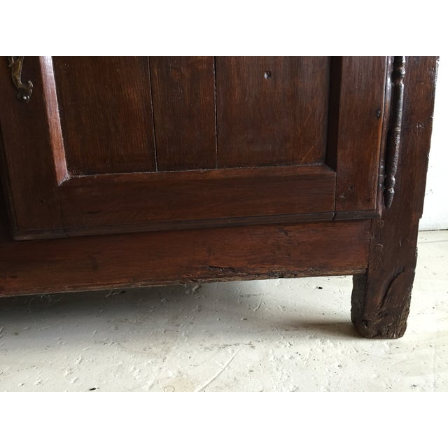 Antique French Country Walnut Cabinet - Image 8 of 11
