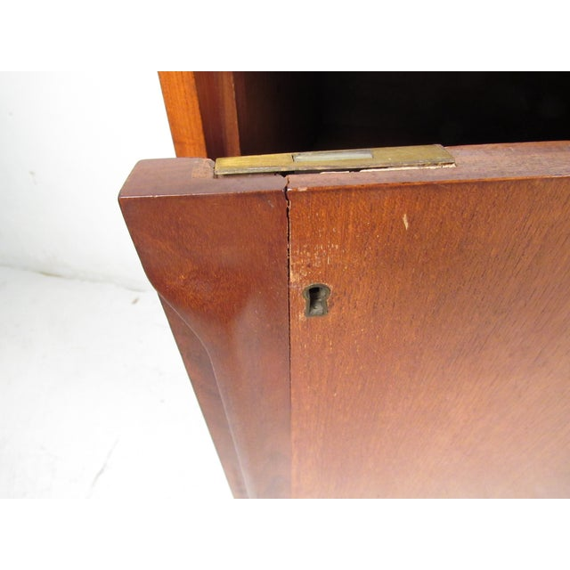 Compact Scandinavian Modern Teak Cabinet For Sale - Image 11 of 13