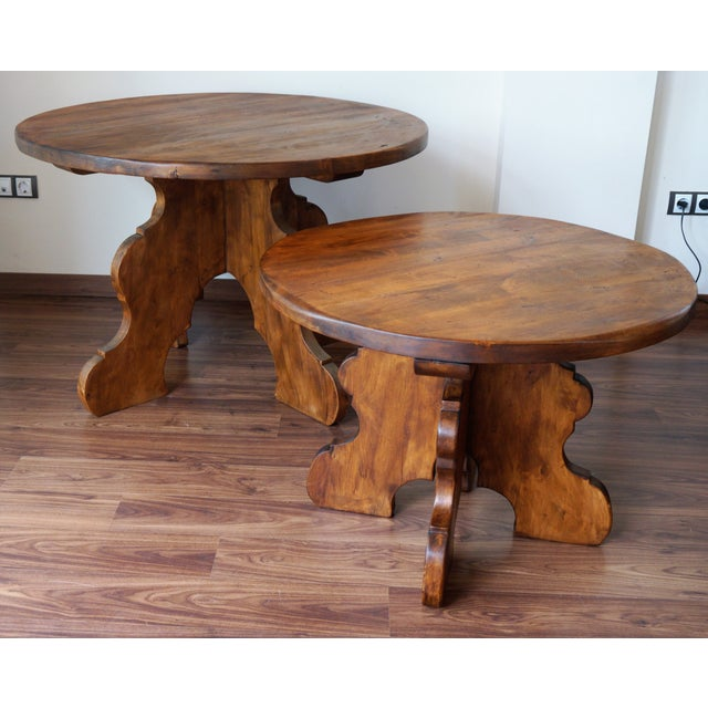 20th Century Rustic Round Coffee Table or Side Table - Image 7 of 7