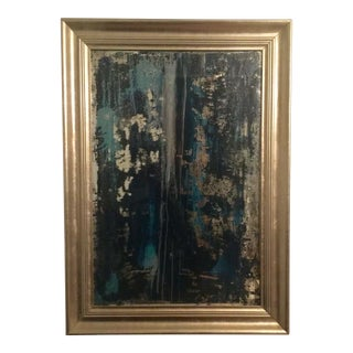 ABC Carpet & Home Contemporary Distressed Art Glass Mirror For Sale