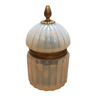 Vintage Italian Murano Opaline Cream Box