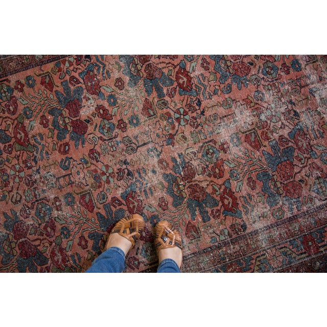 "Distressed Antique Lilihan Rug - 4'3"" X 6'5"" - Image 2 of 8"