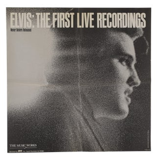 1970s Vintage Elvis Presley Promotional Poster the First Live Recordings For Sale