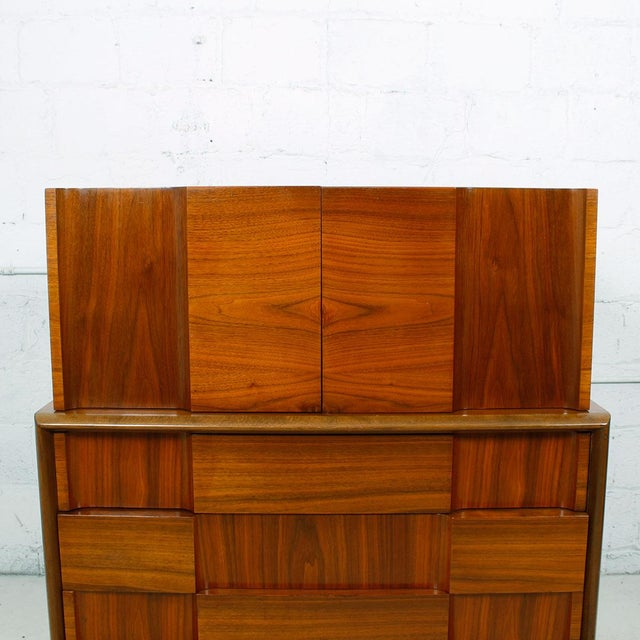 Swedish Modern Walnut Dresser by Edmund Spence - Image 6 of 10