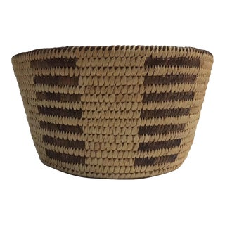 Vintage Native American Style Pima Basket For Sale