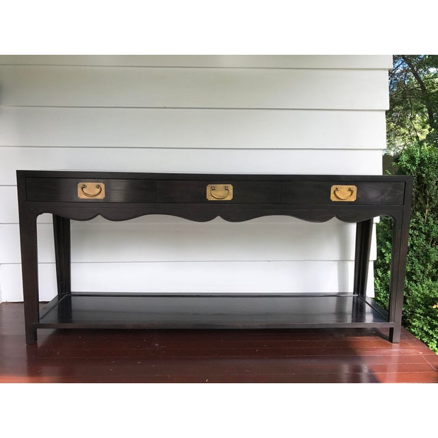 Hickory Chair Three Drawer Console - Image 2 of 10