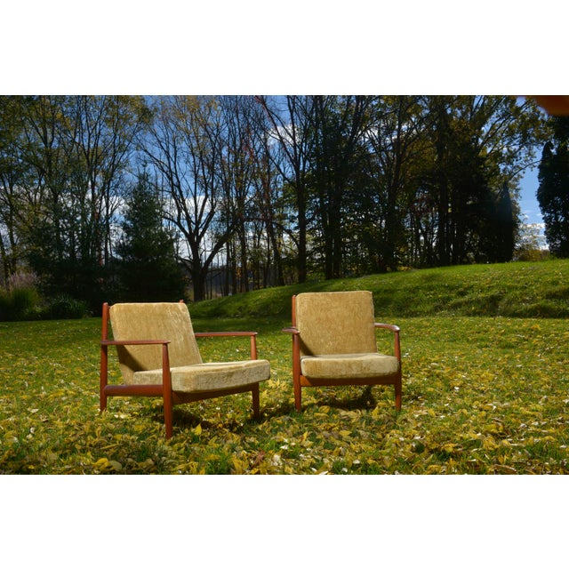 Mid-Century Danish Grete Jalk Lounge Chairs - A Pair - Image 2 of 7