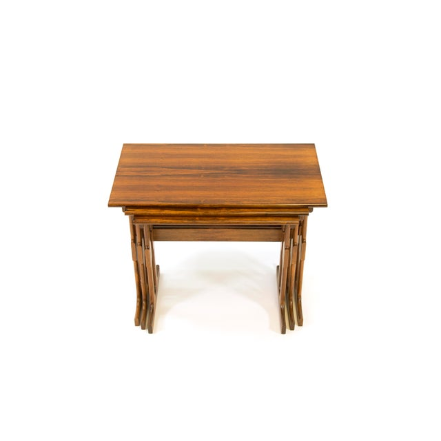 Rosewood Cfc Silkeborg Rosewood Nesting Tables From Denmark - Set of 3 For Sale - Image 7 of 10