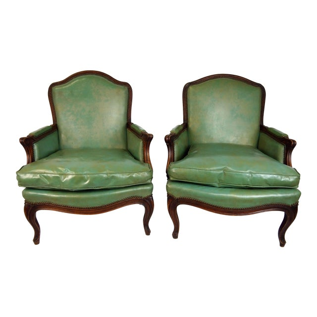 Louis XV Style Bergères - A Pair - Image 1 of 6