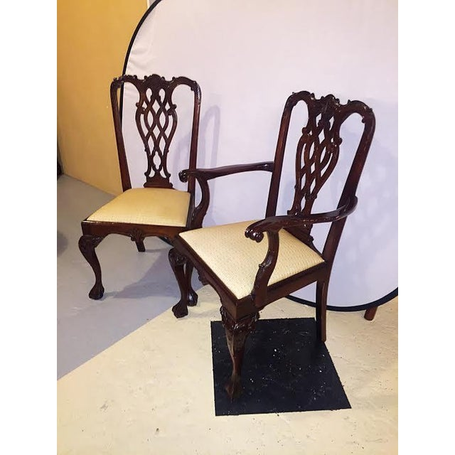 Georgian Style Dining Chairs - Set of 8 - Image 3 of 9