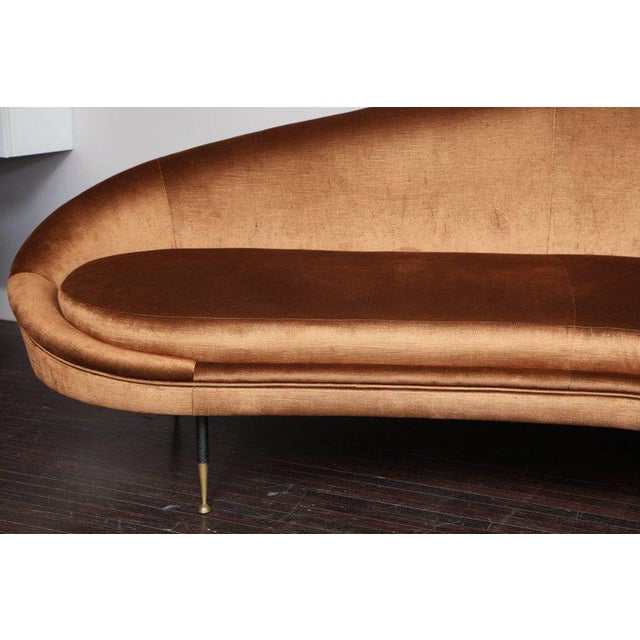 Italian Vintage Italian Curved Sofa For Sale - Image 3 of 5