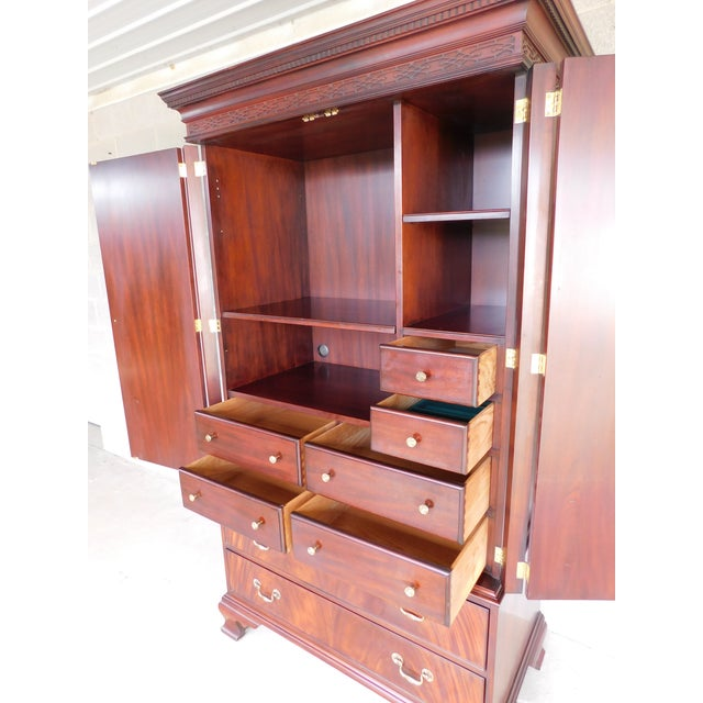 Features Sturdy Construction, 8 Dovetailed Drawers, Interior Shelves, Felt Jewelry Pads, Brass Hardware Circa 2001 Good...
