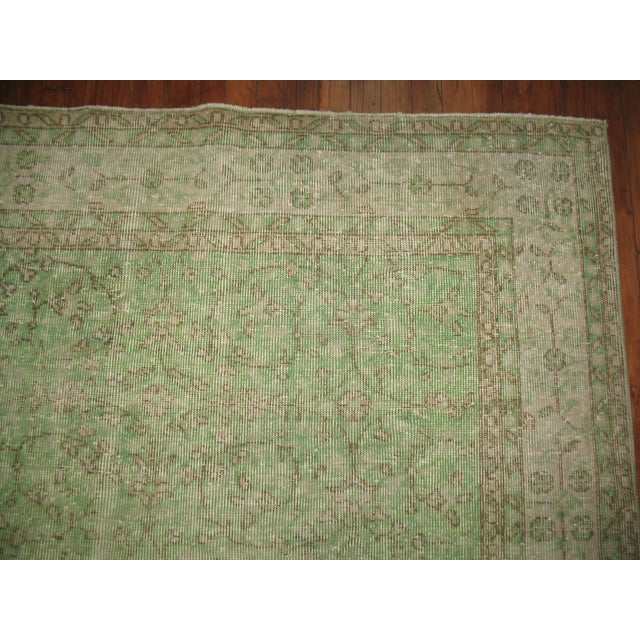 Turkish Green Over-Dyed Rug - 7'1'' X 10'5'' - Image 5 of 5