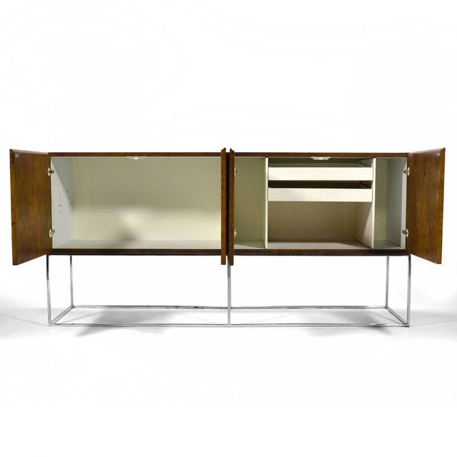 1970s Milo Baughman Olive Ash Burl Credenza by Thayer Coggin For Sale - Image 5 of 10