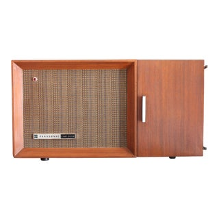 Vintage Panasonic Solid State Amfm Transistor Radio Model #Re-7487 With Refinished Teak Cabinet For Sale
