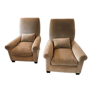 Newly Upholstered High Back Chairs - a Pair For Sale