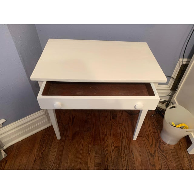 1960s 1960s Boho Chic Desk Painted in White Chalk Paint For Sale - Image 5 of 13