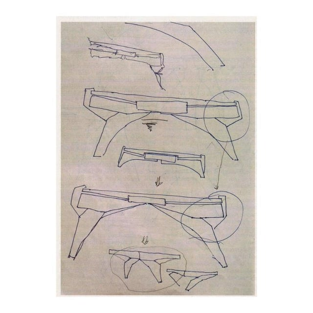 """""""Arch Bridge"""", Late 20th Century Constructivist Desk in Pear wood, Ed Weinberger For Sale - Image 4 of 10"""