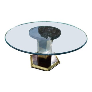 Mastercraft Style Modern Glass Dining Table