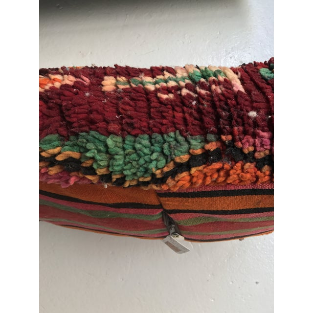 Vintage Moroccan Wool Pouf - Image 6 of 10