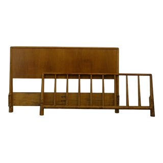 Mid-Century Modern Gibbings Headboards and Footboard - 2 Piece Set For Sale
