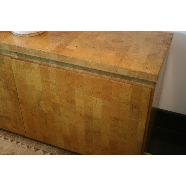 1960s Mid-Century Modern Cork Two Door Cabinet For Sale - Image 10 of 10