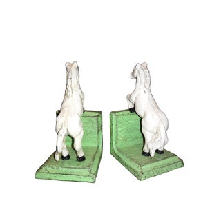 White Stallion Cast Iron Bookends - A Pair Preview