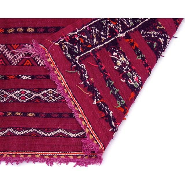 Moroccan Magenta Kilim Rug - 5′3″ × 10′1″ - Image 5 of 5