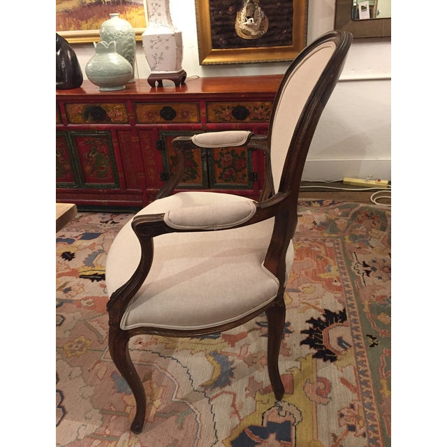 1920's French Dining Chairs With Arms - A Pair - Image 3 of 6