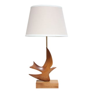 Maple and Mahogany 'Dove' Lamp by Clark Voorhees for Hansen For Sale