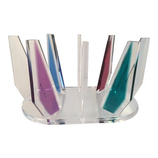 Contemporary Munzig Lucite Table Base For Sale