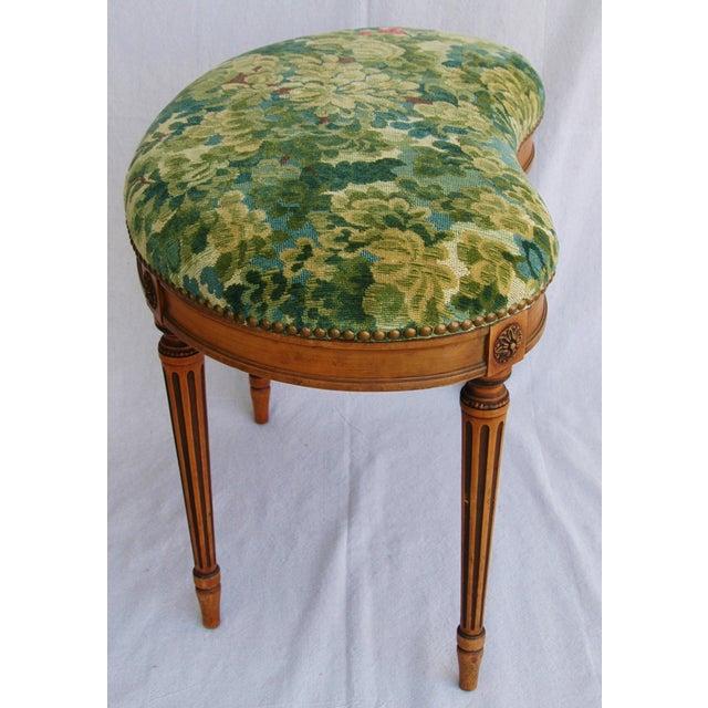 Italian Scalamandre Marly Fabric Bench - Image 8 of 11