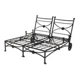Image of Large Patio Double Chaise Lounge For Sale