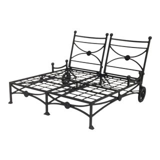 Large Patio Double Chaise Lounge For Sale