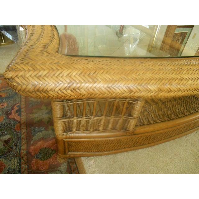 Fendi Palm Beach Regency Wicker Coffee Table - Image 5 of 7